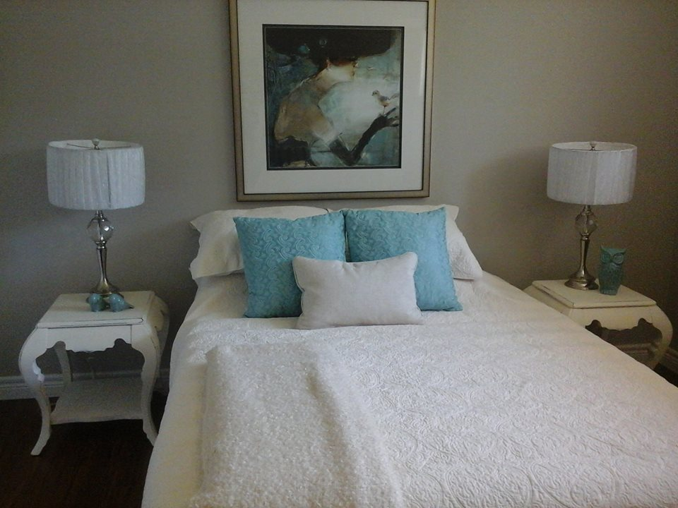 Home Staging Service In A Vacant Condo | staged bedroom | MatiDesign Interior Decorating And Home Staging London Ontario