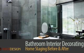 Bathroom Interior Decorating: Home Staging Before & After | Nicely Decorated Bathroom | MatiDesign Interior Decorating And Home Staging London Ontario