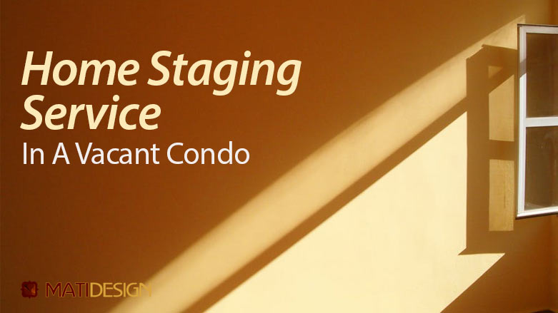 Home Staging Service In A Vacant Condo | a sunbeam through a window | MatiDesign Interior Decorating And Home Staging London Ontario